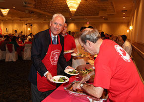 Serving at the Canada Day Lunch