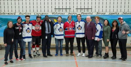 Hometown Hockey at William Berczy Public School