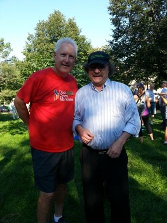 At the Terry Fox Run with Bill