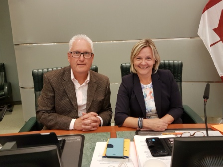 Don with Karen Rea at Markham Council