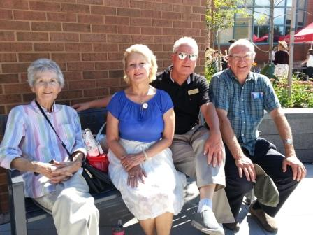 Don with Valerie Burke, Marion and David at the Unveiling of the Benjamin Thorn