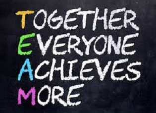Chalkboard with TEAM - Together Everyone Achieves More