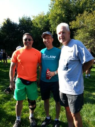 At Terry Fox Run with Ed Law and Homer