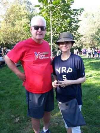 At the Terry Fox Run with Winnie