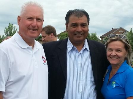 With Councillor Karen Rea and MP Bob Saroya
